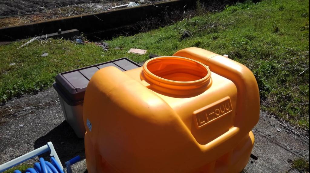 パンプキンタイプの貯水タンク